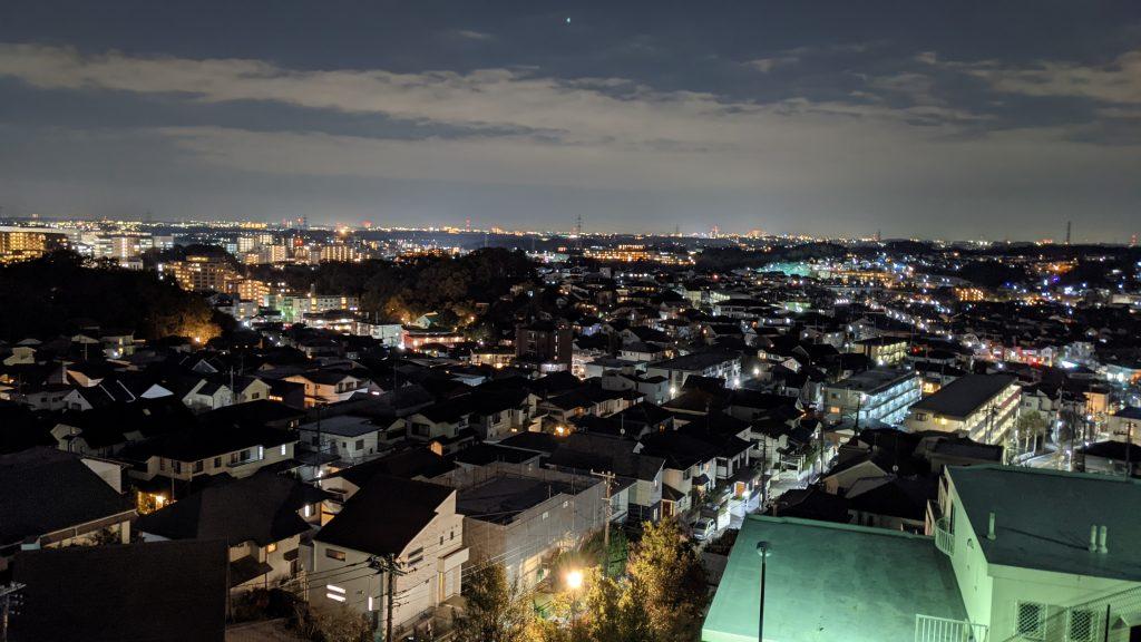 スマホ撮影の夜景